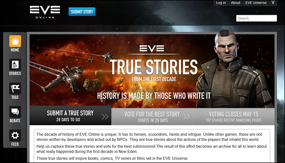 True Stories website