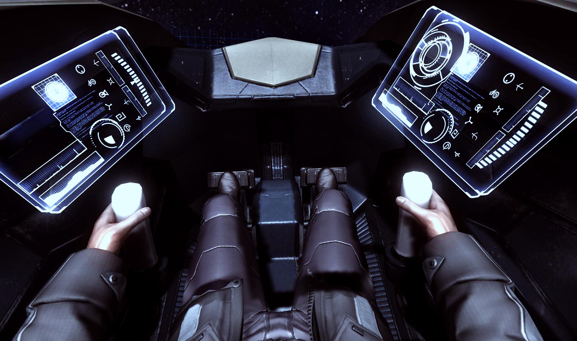 EVE-VR cockpit