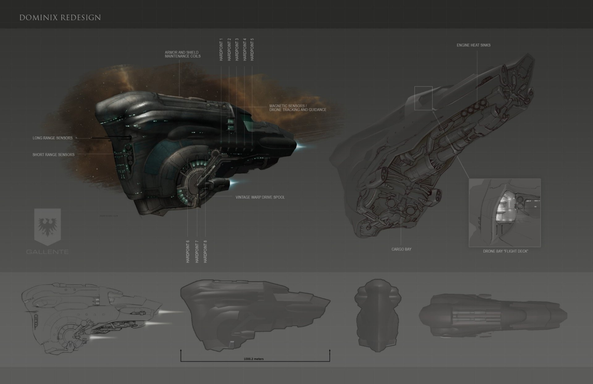 EVE Online: Gallente Dominix redesigned
