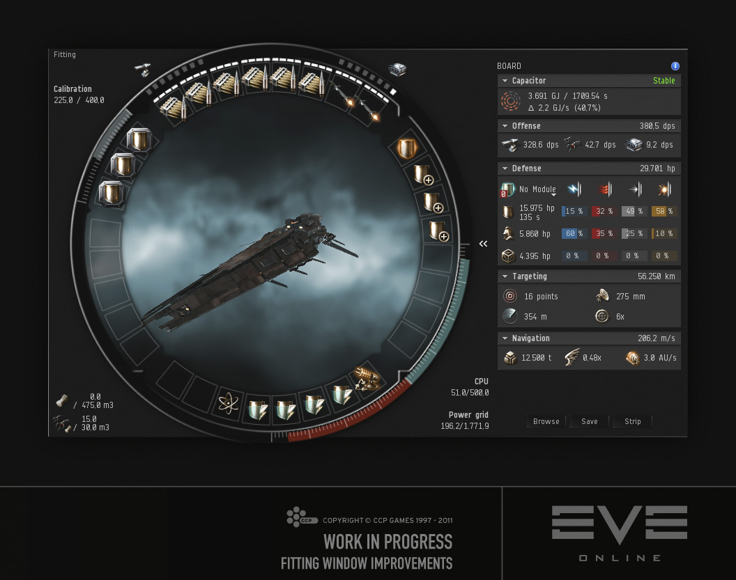 Eve Online Improvements To The Fitting Window