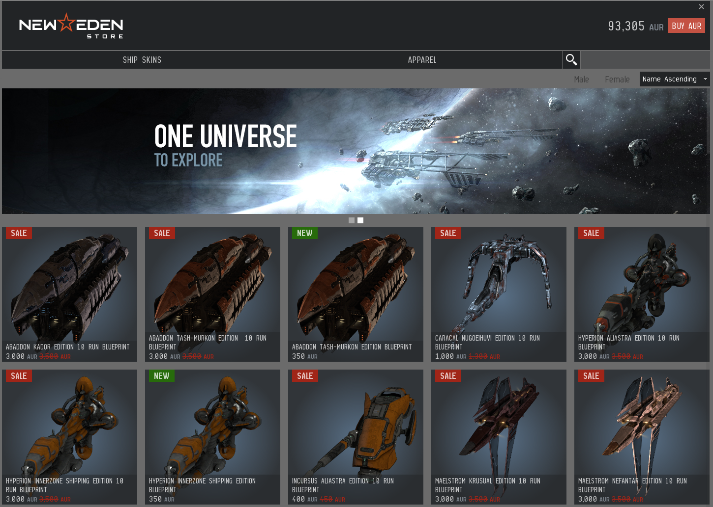 The New Eden Store Eve Online