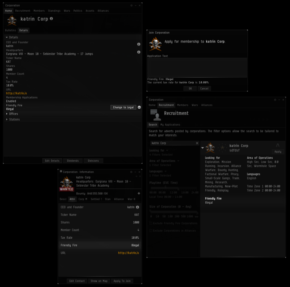 eve online how to leave a corp