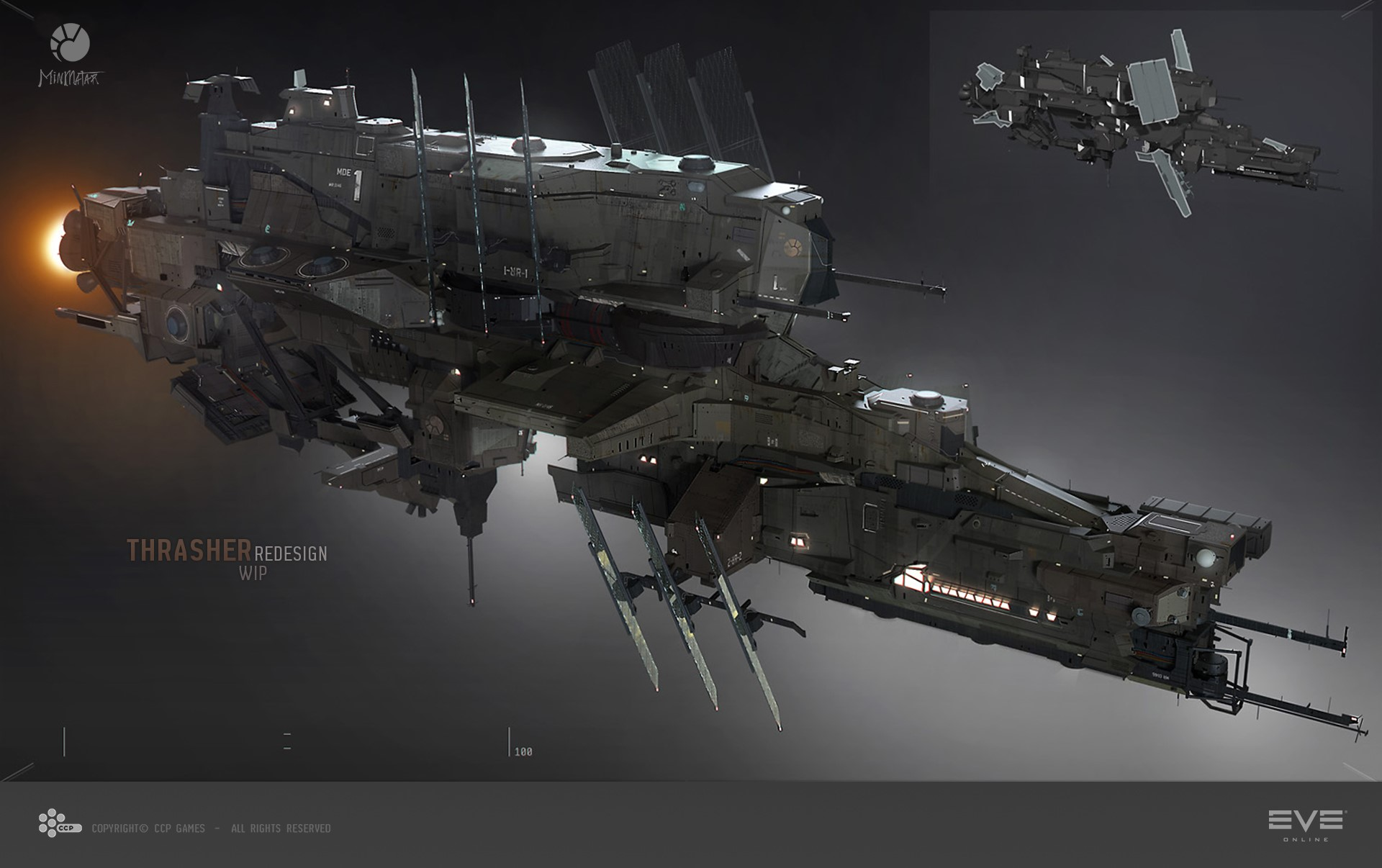 eve online the dominix work in progress and a new art director