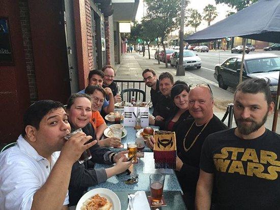 CCP Mankiller mit anderen Entwicklern in Pasadena beim EVE Meet